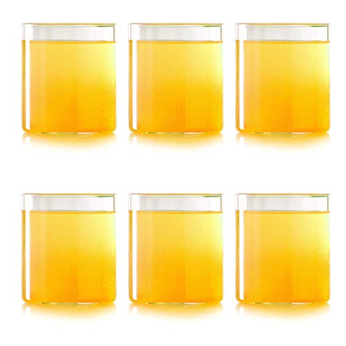 Borosil VCST210 Vision Classic Small Tumbler [Set of 6] Clear Lightweight & Durable Drinkware, Odor Resistant, Dishwasher Safe - For Water, Juice, Beer, Wine, and Cocktails | 7 Ounce Cups