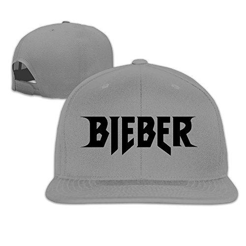 Justin Bieber Purpose World Tour Bieber Custom Embroidery Flat Bill Hats For Men Women Ash (8 Colors)