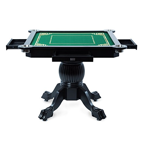 BBO Poker Levity Game and Poker Table for 4 Players with Mahjong Graphic Playing Surface, 40.5-Inch Square by BBO Poker (Image #2)