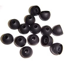 Xcessor High Quality Replacement Silicone Earbuds 7 Pairs (Set of 14 Pieces). Compatible With Most In Ear Headphone Brands. Size: LARGE. Black.