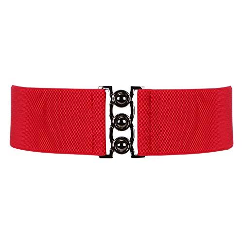 (Wide Elastic Waist Belt for Women, XZQTIVE Stretchy Cinch Belt for Dress Waistband Belt)