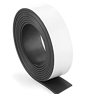 Caydo 80Mil Flexible Adhesive Magnet Strip Roll Magnetic Strips Sheets Paper 1-Inch x 6-Feet
