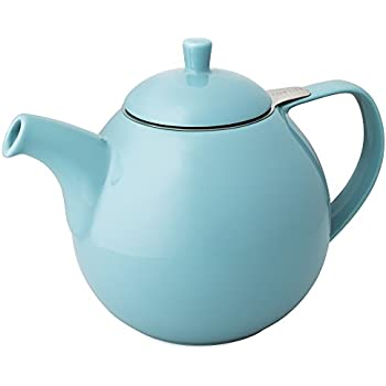 FORLIFE Curve Teapot with Infuser, 45-Ounce, Turquoise