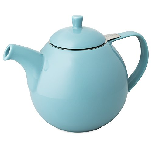FORLIFE Curve 45-Ounce Teapot with Infuser, Turquoise