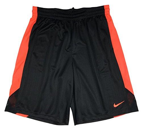 Nike Mens Layup 2.0 Light Weight Basketball Shorts (Black/Orange X-Large)