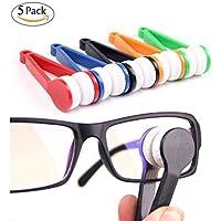 CoWalkers Mini Gafas de Sol Gafas de Microfibra Espectáculo Limpiador Herramienta de Limpieza de Cepillo Suave, Gafas de Microfibra Gafas Limpiador Clip de Limpieza (5 Pcs)
