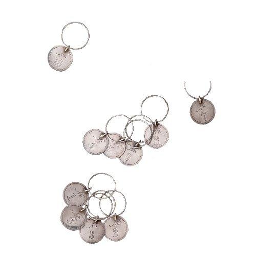 Shiraleah Numbered Wine Glass Charm, Set of 10 by Shiraleah