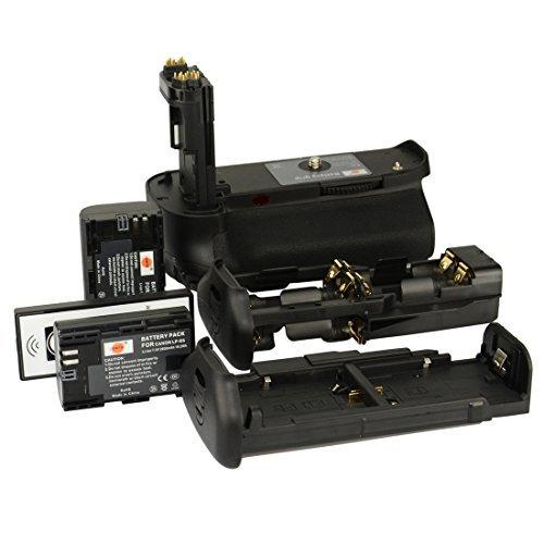 DSTE Pro IR Remote BG-E11 Vertical Battery Grip + 2x LP-E6 LP-E6N for Canon EOS 5D Mark III 3 5DS 5DSR SLR Digital Camera