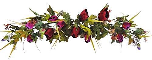 """V-Max Floral Decor 36"""" Designer Purple Tulip Flower Swag"""