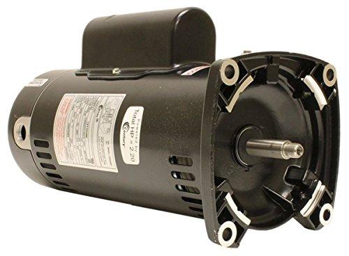 (Century USQ1202 2 HP, 3450 RPM, 48Y Frame, Capacitor Start/Capacitor Run, ODP Enclosure, Square Flange Pool)