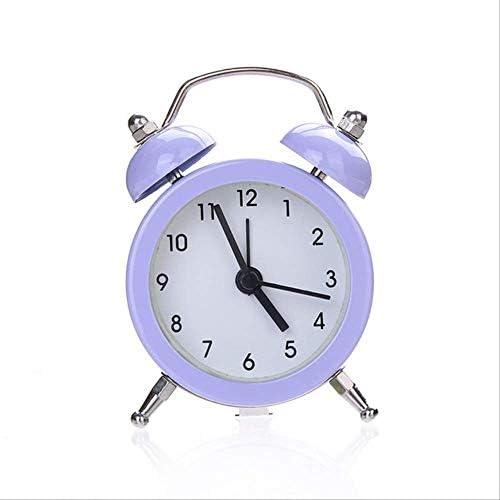 ミニメタル目覚まし時計ポータブルホーム屋外素敵な漫画の腕時計レトロギフト子供のための友人金属目覚まし時計デスクトップ