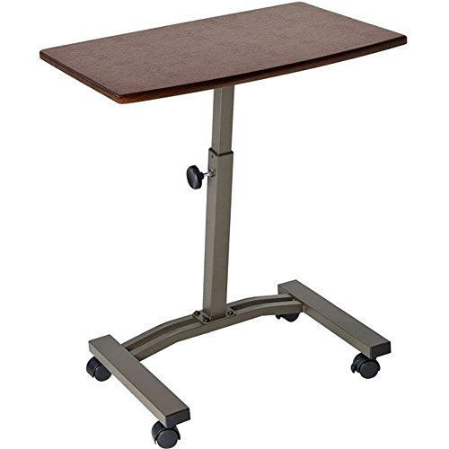 table with wheels. seville classics mobile laptop desk cart table with wheels