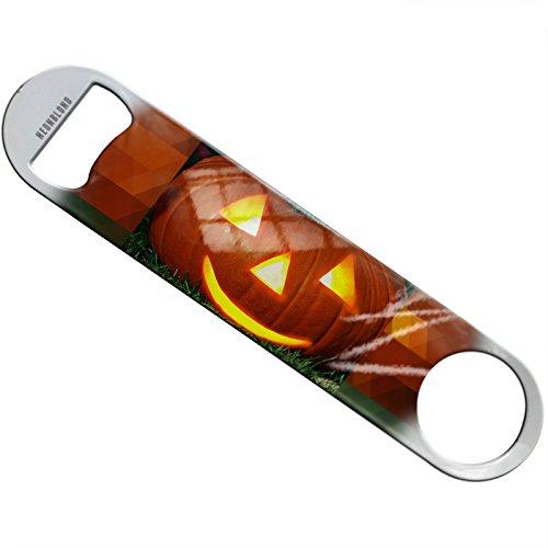 NEONBLOND Halloween pumpkin Flat Beer Bottle Opener Heavy Duty Bartender]()