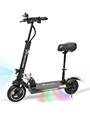 EverCross Electric Scooter, Electric Scooter for Adults with 800W Motor, Up to 28MPH & 25 Miles, Scooter for Adults with Dual Braking System, Folding Electric Scooter Offroad with 10'' Solid Tires