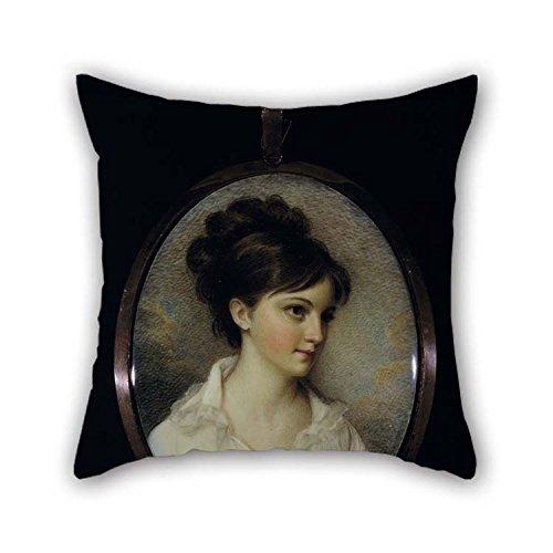 Oil Painting Edward Greene Malbone - Eliza Izard (Mrs. Thomas Pinckney, Jr.) Throw Pillow Covers 18 X 18 Inches / 45 By 45 Cm Gift Or Decor For Gf Living Room Teens Boys Chair Son Kids Room - 2 Si