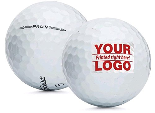 Personalized 1 Dozen Pro V1 Custom Logo Golf Balls + Free Tees