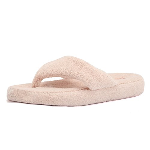EQUICK House Women Terry 37 Flip 36 Spa Slippers Shoes Support Pink Flops Thong U218WMT003 Arch rBpqr4