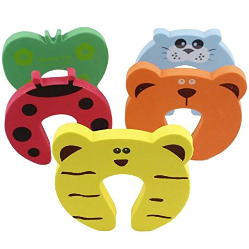 Coffled 10 PCS Cute Kawaii Animal Door Stopper Cushion to Protect Infant Finger Safefy,Foam Door Guard free from Finger Pinch