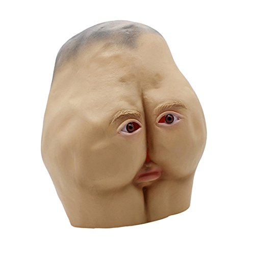 YYF Latex Mask Rubber Creepy Ugly Hip Head