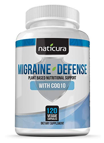 Migraine Relief Natural Headache Supplement – Prevent Pain, Nausea, Sensitivity & Auras from Tension & Chronic Strain - Doctor Recommended Long-Term Protection & Brain Support - 120 Vegan Capsules