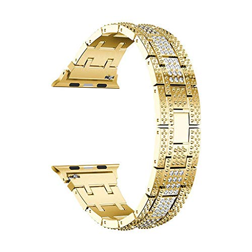 Lyperkin Alloy Band,Compatible with Apple Watch Band 40mm,Adjustable Luxury Crystal Diamond Band Strap Wristband Replacement Cuff Bangle Bracelet Accessories,Compatible with Series 4.