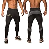 Jed North Men's Bodybuilding Compression Pants Running Tights Leggings