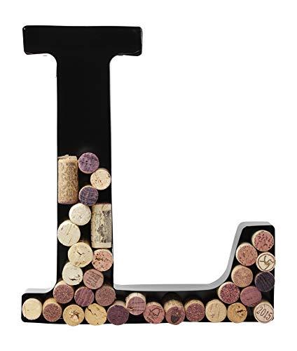 Metal Letter Wine Cork Holder Monogram w/Free Wall Mount Kit A-Z, -