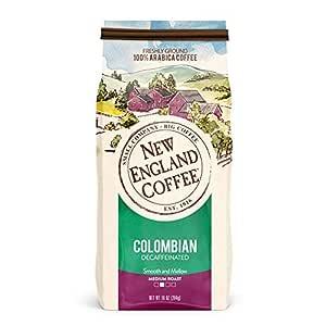 New England Coffee Colombian Decaffeinated Medium Roast Ground Coffee 10 oz. Bag