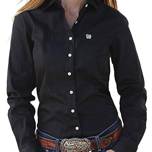 Cinch Apparel Womens Button Up Shirt M Black for sale  Delivered anywhere in USA