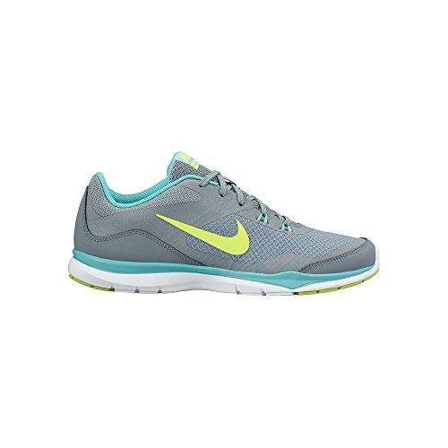Nike Womens Flex Trainer 5 Running Shoe,  Dove Grey/Light Aqua/Teal Tint/Volt - 9 B(M) - Aqua Shoes Nike