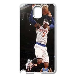 Stevebrown5v Carmelo Anthony,basketball Player Samsung Galaxy Note 3 Cases, Antishock Luxury Case for Samsung Galaxy Note3 {White}