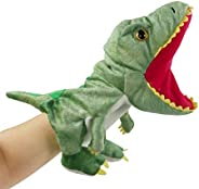 Bstaofy Plush Dinosaur Hand Puppet T-rex Stuffed Toy Open Movable Mouth for Creative Role Play Gift for Kids T