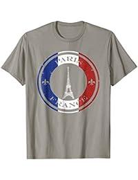 French Flag Paris Tshirt - Eiffel Tower - Blue, White, Red