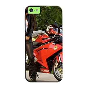 TPU Yellow For Iphone 5c Fantasy Magan Fox Leather Jacket Anti-scuff Protective Case