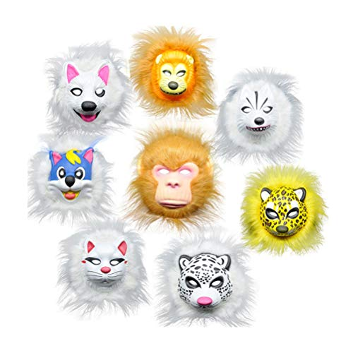 Amosfun Halloween Costume Makeup Animal Mask Children Cosplay Mask Party Favor Decoration