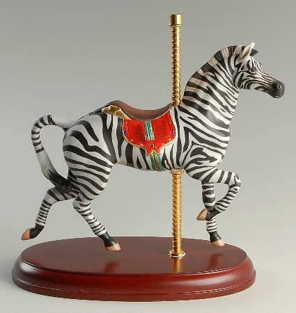 Lenox Smithsonian American Carousel Antique Zebra Horse New York Ltd