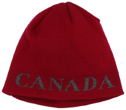 Canada Goose Men's Boreal Beanie (One Size, Red) (Hat Men Canada compare prices)