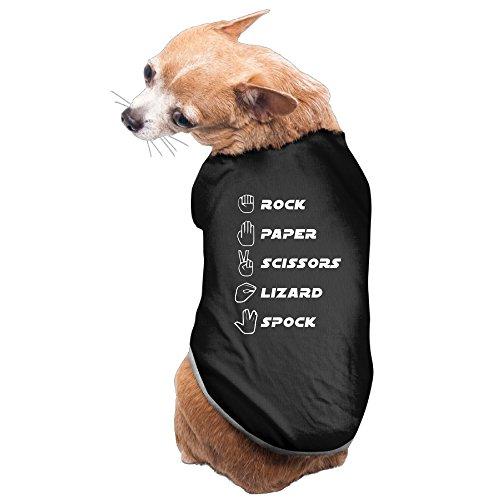 [Rock Paper Scissors Lizard Spock Design Dog Costume Puppy Apparel] (Scissors Paper Rock Costume)