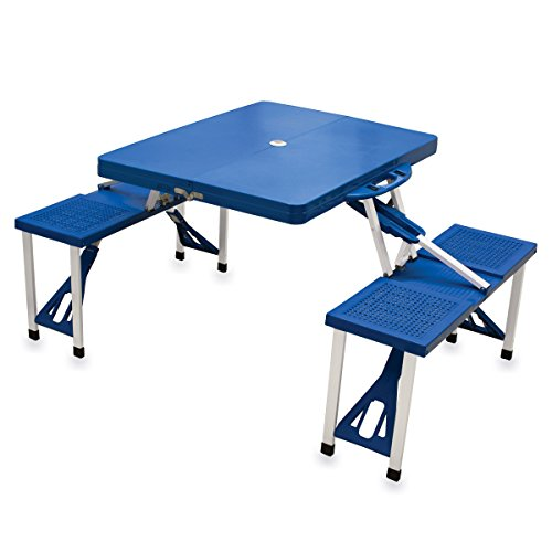 ONIVA – a Picnic Time Brand Portable Folding Picnic Table with Seating for 4, Blue (Renewed)