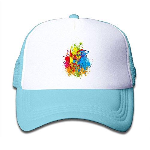 Sdrg5 Dancing Splash Colour Child Baby Kid Mesh Caps Adjustable