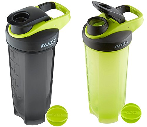 [2 Pack Avex MixFit Shaker Bottle 28 oz. with Loop Clip Top] (Spectra Costumes)