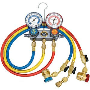 CPS MA1234: Pro-Set Manifold A/C Gauge Set with Hoses (R-12, R-134A) ()