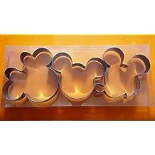 LAWMAN Mickey Minnie Mouse Fondant Baking Metal Cookie Cutter 3 pcs Set