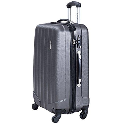 Goplus 3 Pcs Luggage Set ABS Hardshell Travel Bag Trolley Suitcase w/TSA Lock (Grey) by Goplus (Image #3)