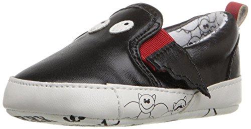 Rosie Pope Kids Footwear Prewalker Bat Crib Shoe (Infant), Black, 3-6 Months M US Infant