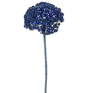 "SilksAreForever 19"" Glittered Allium Artificial Flower Stem -Blue (Pack of 12) 58"