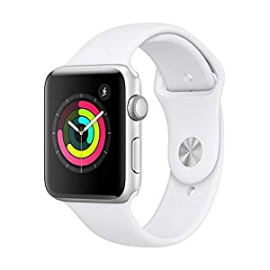 AppleWatch Series3 (GPS, 38mm) – Silver Aluminium Case with White Sport Band
