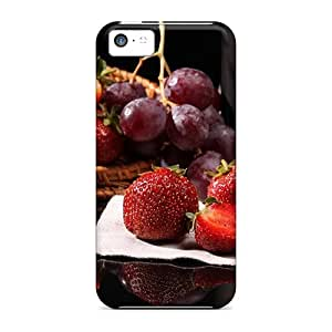 Quality HHaroldshon Case Cover With Strawberries And Grapes Nice Appearance Compatible With Iphone 5c