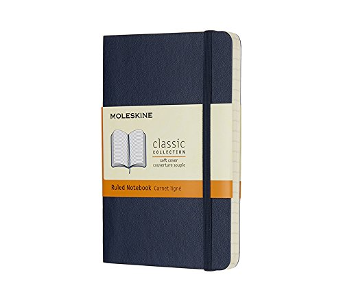 Moleskine Classic Notebook Pocket Ruled Sapphire Blue...