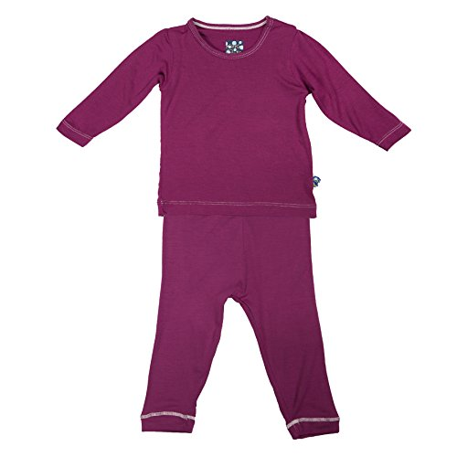 Kickee Pants Long Sleeved Pajama Set, Orchid, 12 18 Months by Kickee Pants